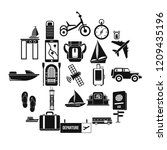 voyage spot icons set. simple...   Shutterstock .eps vector #1209435196