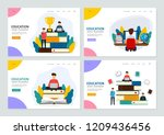 set of landing page template... | Shutterstock .eps vector #1209436456