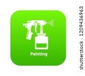spray gun icon green vector... | Shutterstock .eps vector #1209436963