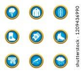 winter flavour icons set. flat... | Shutterstock .eps vector #1209436990
