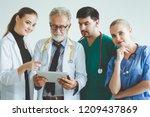 group of happy doctor surgeon... | Shutterstock . vector #1209437869