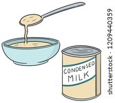 vector set of condensed milk | Shutterstock .eps vector #1209440359