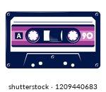 retro vintage cassette tape... | Shutterstock .eps vector #1209440683