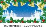 christmas illustration with... | Shutterstock .eps vector #1209443056