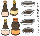 vector set of fish sauce | Shutterstock .eps vector #1209451126