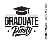 graduation label. vector text... | Shutterstock .eps vector #1209451456
