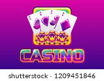purple logo text casino and...