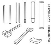 vector set of chopsticks | Shutterstock .eps vector #1209452689