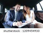 beautiful business woman... | Shutterstock . vector #1209454933