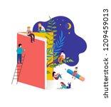 book festival concept of a... | Shutterstock .eps vector #1209459013