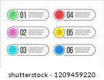 3 steps colourful banners for... | Shutterstock .eps vector #1209459220