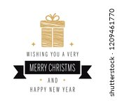 merry christmas greeting text... | Shutterstock .eps vector #1209461770