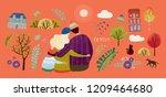 set to create a cute... | Shutterstock .eps vector #1209464680