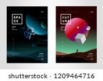space  abstract background for... | Shutterstock .eps vector #1209464716