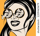 vector hand drawn illustration... | Shutterstock .eps vector #1209465679
