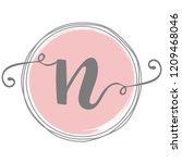 feminine n logo template design   Shutterstock .eps vector #1209468046