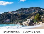 view from letojanni to taormina.... | Shutterstock . vector #1209471706