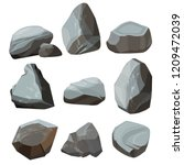 colored cartoon stones. granite ... | Shutterstock .eps vector #1209472039