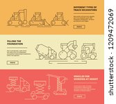construction machinery banners. ... | Shutterstock .eps vector #1209472069