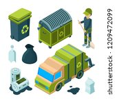garbage recycling isometric....   Shutterstock .eps vector #1209472099