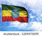 national flag of ethiopia on a...   Shutterstock . vector #1209473059