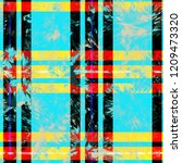 colored plaid seamless texture. ... | Shutterstock .eps vector #1209473320