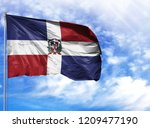 national flag of dominican... | Shutterstock . vector #1209477190