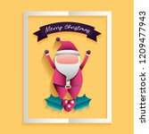 merry christmas card | Shutterstock .eps vector #1209477943