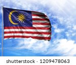 national flag of malasia on a...   Shutterstock . vector #1209478063