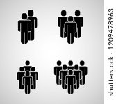 people group icons  | Shutterstock .eps vector #1209478963