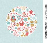 set of christmas and new year... | Shutterstock .eps vector #120948388