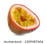 passion fruit isolated on white ... | Shutterstock . vector #1209487606