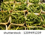 green beans in basket | Shutterstock . vector #1209491239