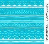 doodle pattern. decorative... | Shutterstock .eps vector #1209492199