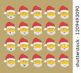 set of santa claus icons with... | Shutterstock .eps vector #1209493090