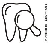 tooth and magnifier showing...   Shutterstock .eps vector #1209493366