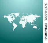vector map of world | Shutterstock .eps vector #1209493576