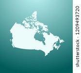 vector map of canada   Shutterstock .eps vector #1209493720