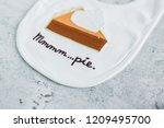 pumpkin pie baby bib | Shutterstock . vector #1209495700