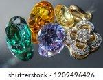 natural sapphire gemstone | Shutterstock . vector #1209496426