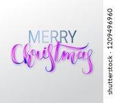 merry christmas oil paint brush ... | Shutterstock .eps vector #1209496960