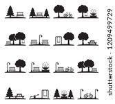 park icons. black flat design....   Shutterstock .eps vector #1209499729
