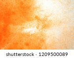 abstract hand painted orange... | Shutterstock . vector #1209500089