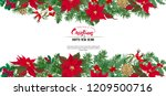 christmas wreath of spruce ... | Shutterstock .eps vector #1209500716