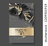 vector banner with tropical... | Shutterstock .eps vector #1209501919