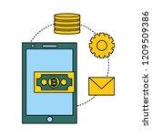 fin tech business   Shutterstock .eps vector #1209509386