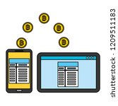 fin tech business   Shutterstock .eps vector #1209511183