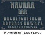 vintage font typeface vector... | Shutterstock .eps vector #1209513970
