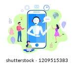 vector illustration  customer... | Shutterstock .eps vector #1209515383