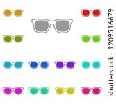 sunglasses icon in multi color. ...